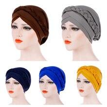 Chapéu de quimio islâmico de turbante elástico de alta qualidade de alta qualidade para mulheres