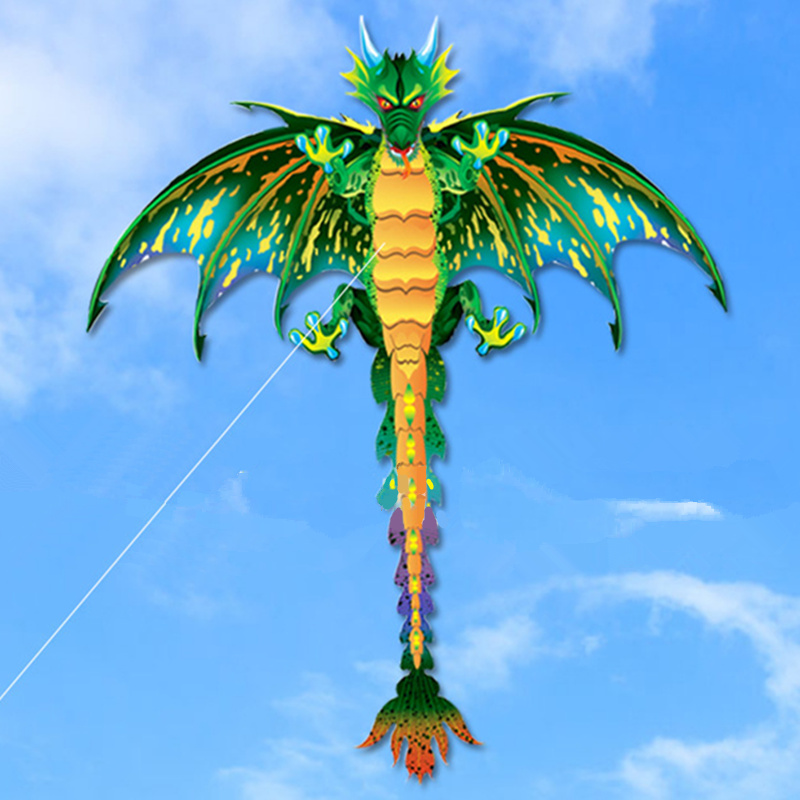 3D Pterosaur Kite Animal Dinosaur Kite Long Tail Single Line Kite Outdoor Sports Fun Toy Kite Children Gift With 100M Kite Line