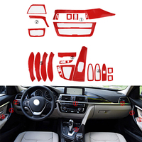 5D Carbon Car Fiber Interior Decal Sticker Trim Package For BMW 3 Series F30 F31 F35 2013 2017