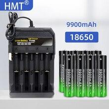 2021 חדש 18650 3.7V 9900mAh סוללה נטענת 2/4/8pcs סוללה + 4 חריצים 3.7V 18650 USB מטען משלוח חינם משלוח מהיר