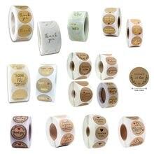 Étiquettes autocollantes de remerciement en rouleau, étiquettes pour cartes d'anniversaire, étiquettes pour boulangerie, pain, enveloppes, cadeaux, 500 pièces