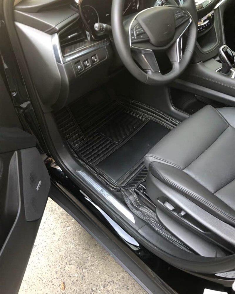 Tapis de sol de voiture avec logo pour ensemble de revêtement 3 rangées Cadillac Escalade 2020 xt6 tapis personnalisés XT4 CT5 XTS sls mat