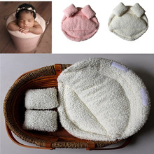 Newborn Baby Photography Props Posing Pillow Basket Filler Photo Prop Cushion Blanket Backdrops цены онлайн