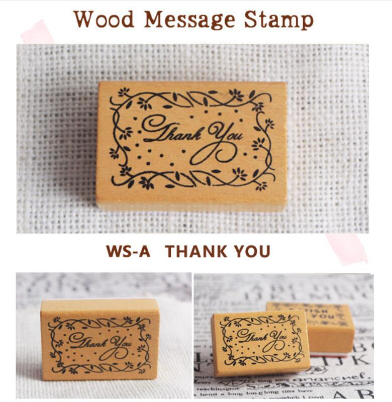 1pcs/lot 5 Designs For Choose Blessing Word Message Stamp DIY Gift Greeting Card Decoration