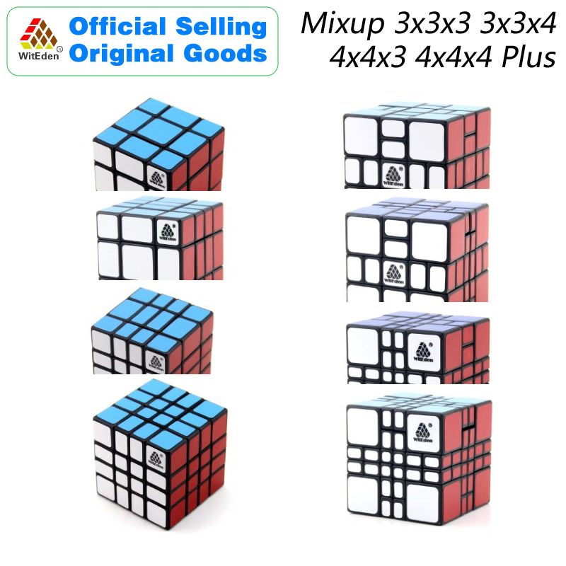 WitEden Mixup 3x3x3 3x3x4 4x4x3 4x4x4 Plus Magic Cube Puzzles Speed Brain Teasers Challenging Educational Toys For Children
