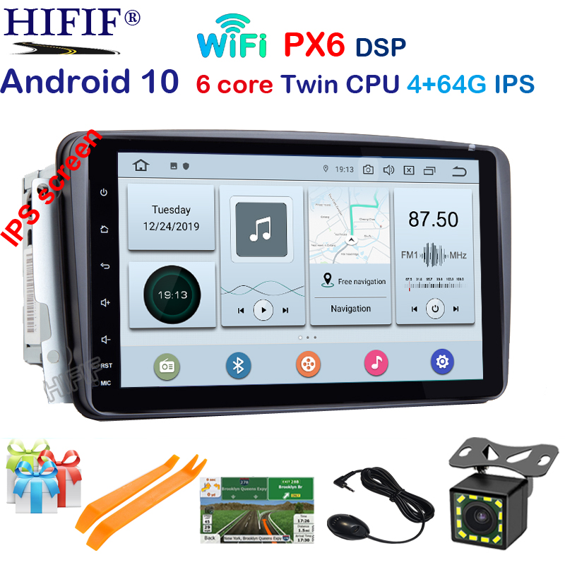 DSP IPS <font><b>Android</b></font> 10 2 Din Car DVD Player For Mercedes Benz CLK W209 <font><b>W203</b></font> W463 Wifi 4G GPS Bluetooth Radio Stereo audio media DVR image