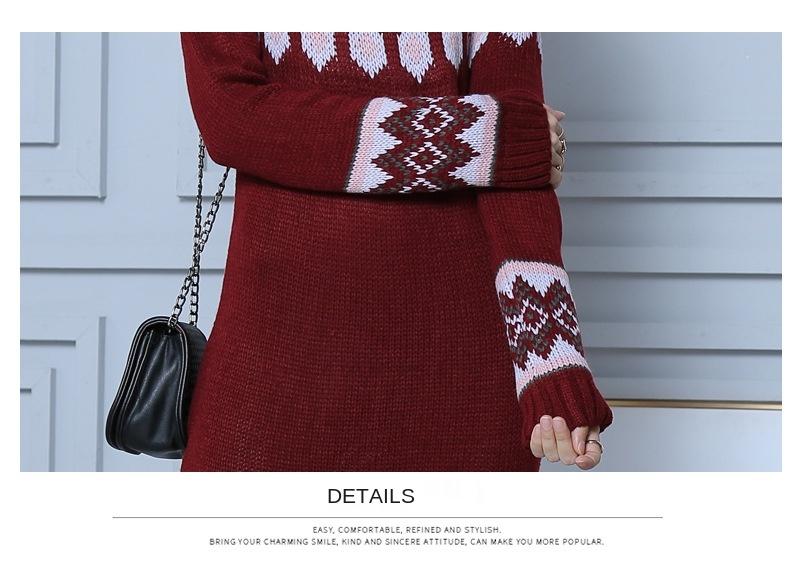 Женское длинное платье свитер в богемном стиле элегантное винтажное