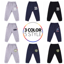 New  Pants For 2-10 Yeas Solid Boys Girls Toddler  Casual Sport  Kids Children Trousers Autumn Spring Print Letter 23 Clothing недорого