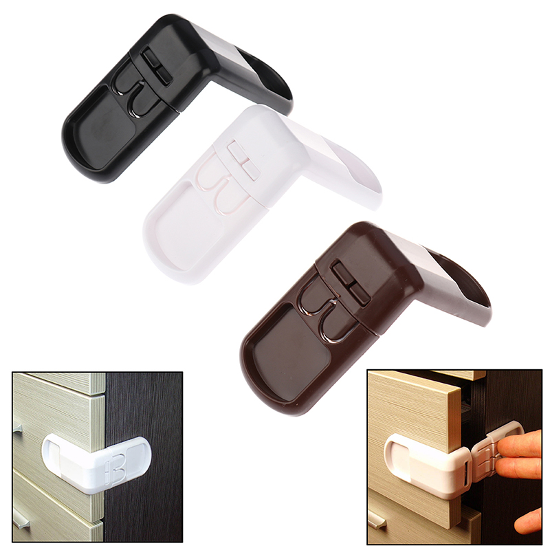 Three-color 90 ° Right-angle Safety Lock Multifunctional Wardrobe Lock Door Lock Baby Proof Locks Plastic Baby Safety Protection