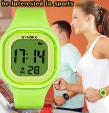 SYNOKE Frauen Digitale Uhren Mode Wasserdichte Leucht Chronograph Studenten Elektronische Uhren Mädchen Geschenke Relogio Feminino