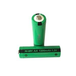 Image 2 - 4pcs PKCELL AA NiMH 충전식 배터리 aa 1200mAh 1.2V Ni MH 산업용 배터리 Bateria Button Top