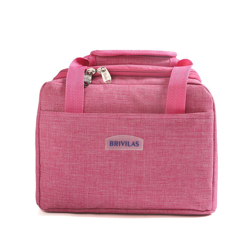 Lunch Bag Square Bag Zipper Insulation Picnic Insulation Package Waterproof Food Fresh-keeping Convenient With Lunch Bag