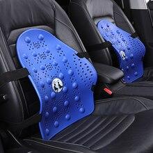 KKYSYELVA Office Chair Massage Back Lumbar Support Pillow Mesh Ventilate Cushion Pad Auto Interior Accessories Waist Supports