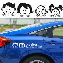 Naklejki samochodowe szczęśliwa rodzina folia winylowa kalkomania artystyczny Design wzór naklejki ciała dla Auto pojazdu wodoodporne akcesoria 5x25cm
