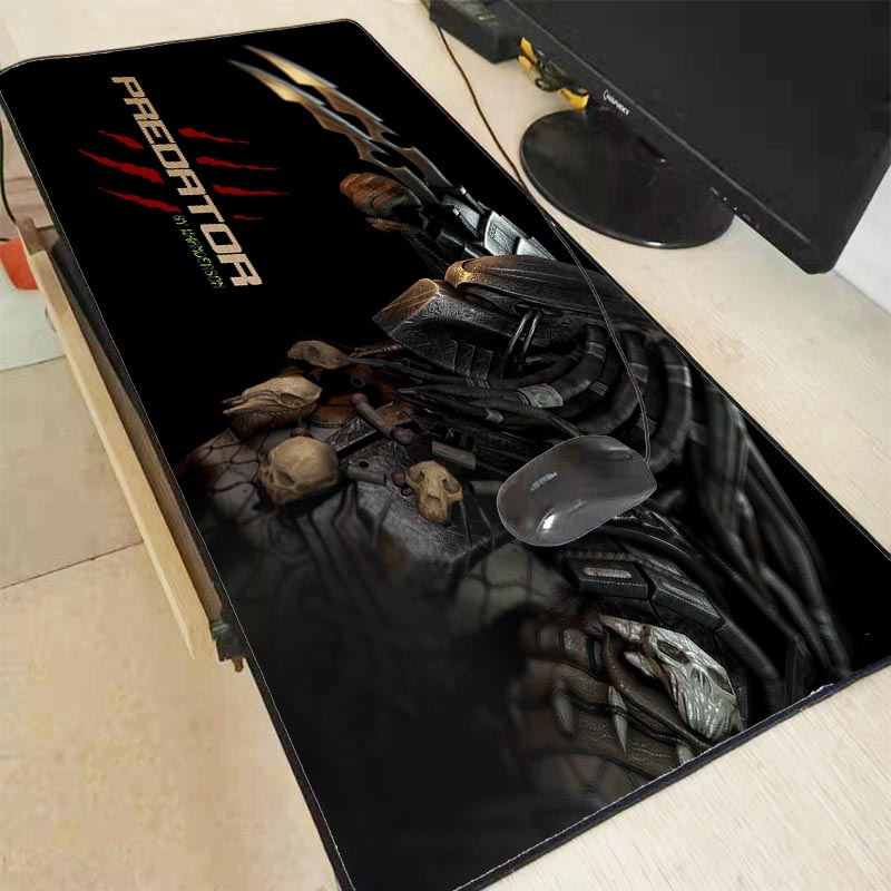 XGZ Predator Movie Mouse Pad Large Rubber Gaming Waterproof Thickening Mouse Pad Locking Edge Office Computer Keyboards Desk Mat