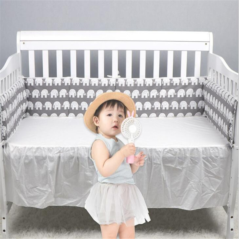 Newborn Baby Bumper Cot Protector Baby Bed Bumper Cartoon Infant Baby Crib Bumper Cushion Cotton Crib Protector Baby Room Decor