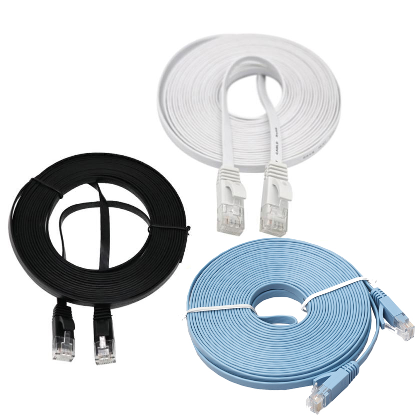 1M/2M/3M/5M RJ45 CAT6 Flat Ethernet Network LAN Cable Flat UTP Patch Router Interesting Lot For Computer Router Laptop