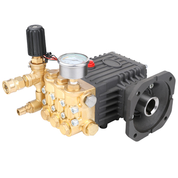 PC-1019 series brass high pressure washer plunger pump 250bar 11LPM shaft 28mm 5.5KW 1400RPM motor direct drive