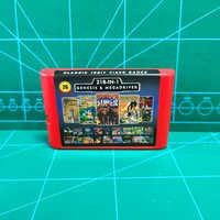 Super 218 en 1 juegos de ahorro de batería para Sega Genesis Megadrive con Super Street juegos Fighter II más allá de Oasis Phantasy Star II IV