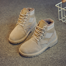 Winter Boy Boots Children Shoes New Boy Genuine Leather Fashion Martin Boots Student Sneakers Plus Velvet Warm Kids Snow Boots high quality 2016 fashion autumn girls boots boy shoes children boots genuine leather kids boots baby martin boots