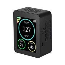 Analisador de gás detector de gás pm2.5 pm1.0 pm10 névoa detectores de partículas qualidade do ar monitor detector tft tela colorida casa o escritório