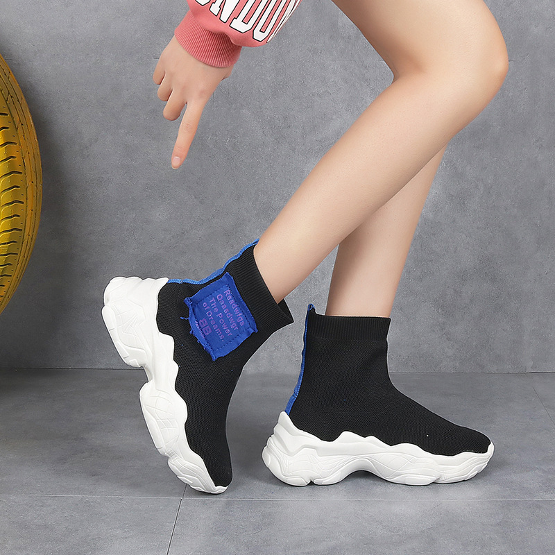 Wa Zi Xie Women's Autumn New Style 2018 Online Celebrity Celebrity Style WOMEN'S Shoes Korean-style Summer Hip Hop High Shoes Bo