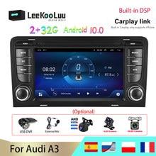 LeeKooLuu 2 + 32G 2 din Android 10 Auto Radio GPS Multimedia Player Für Audi A3 8P S3 2003-2012 RS3 Sportback mit RDS DSP Carplay