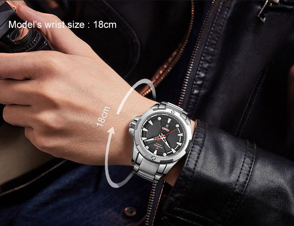 H7e067c8ec1024f8b8f71cb3179dc4efaZ Men's Watches Top Luxury Brand NAVIFORCE Analog Watch Men Stainless Steel Waterproof Quartz Wristwatch Date Relogio Masculino
