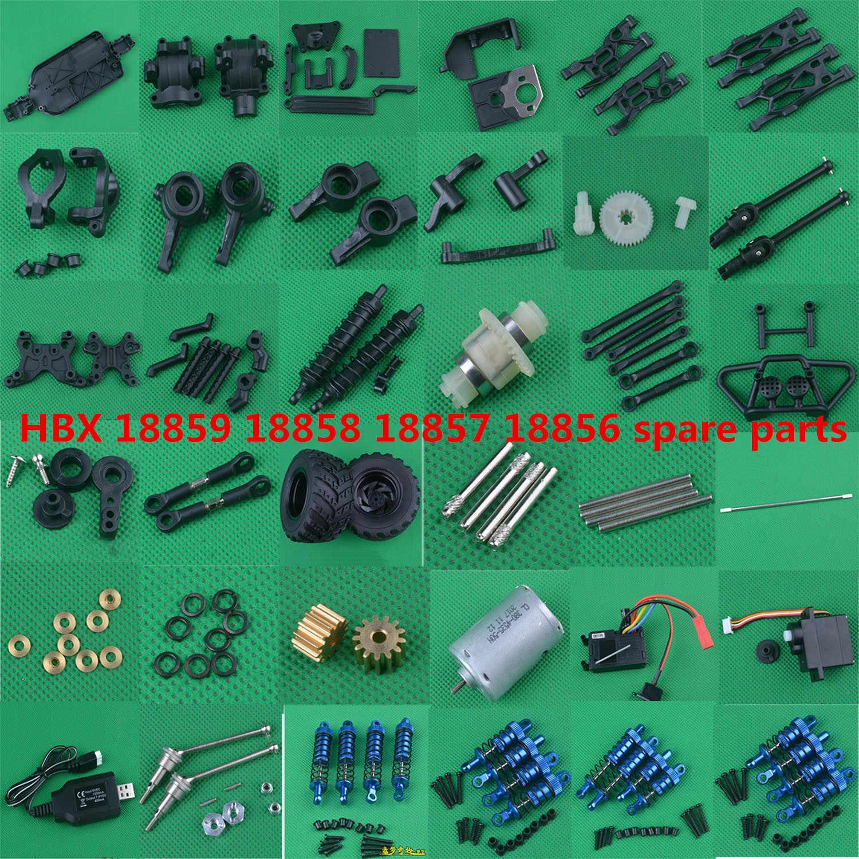 for HBX 18859 18858 18857 18856 1//18 RC Car Spare Parts Differential Veh L4G7 2X