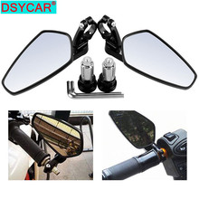 DSYCAR  1Pair 22mm CNC Aluminum Motorcycle Rearview Mirrors, 360 Degree Rotating Mirror Bracket Side View Mirrors Handlebar New