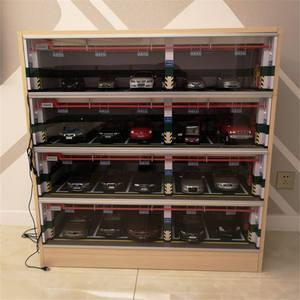 Toy Display-Box Car-Model High-Simulation-Alloy 1:18 New Scene Dustproof Hot-Sale