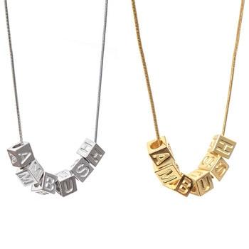 19ss Best Version Ambush Necklaces Golden/925 Silver Pendant Square Dice Shape Ambush Jewelry Silver Necklaces