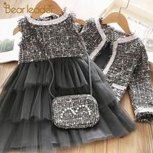 Bear Leader/платье принцессы для девочек; Новые Брендовые вечерние платья; Одежда для девочек; элегантный милый наряд для девочек; одежда для детей; Vestido
