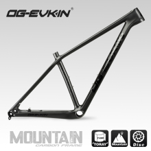 цена на OG-EVKIN CF-052 29er MTB Carbon Bike Frame 135x9mm QR or 142x12mm Thru Axle Disc Carbon Mountain Bike Frame BB92 Bicycle Frame
