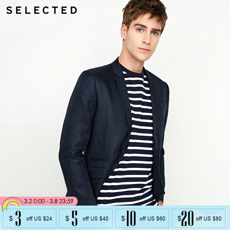 SELECTED Men New Leisure Korean  Suit Blazer| 418272504