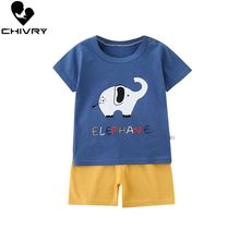 New 2020 Kids Boys Clothes Sets Summer Cartoon Print Short Sleeve O-Neck Cute T-Shirt Tops with Shorts Baby Girls Clothing Set new arrival summer toddler boys kids clothes short sleeve t shirt shorts 2 piece set baby boys girls clothing sets