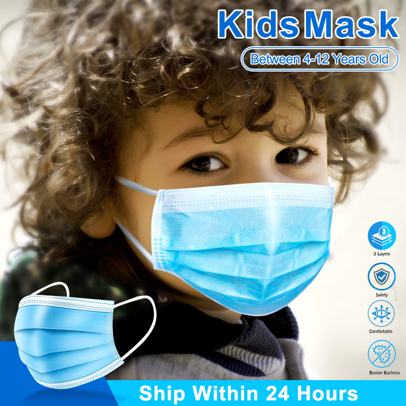 50/100pcs Disposable Masks For Kids Face Mask Anti Dust Germ Protection Mouth Mask 3 Ply Safty Ear-loop Child Baby Children Mask