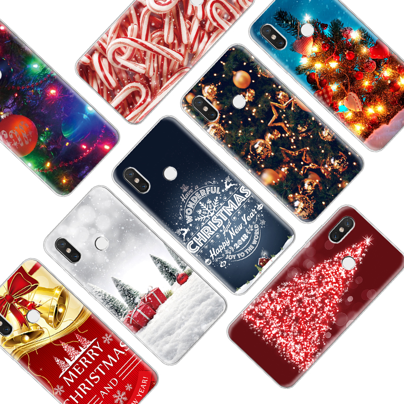 Merry Christmas Soft TPU Print Case For Xiaomi Redmi K20 S2 4A 7A Note 4 Global 3 5 6 7 Pro Plus 6A 5A 4X 4C GO Cover Case Capas