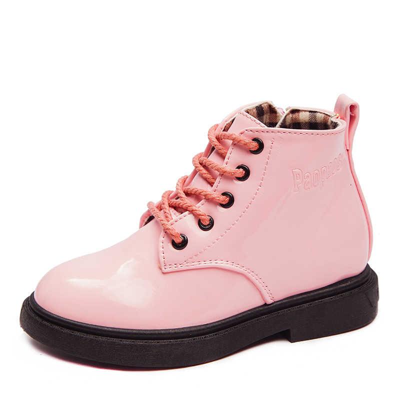 สาวรองเท้าฤดูใบไม้ร่วง/ฤดูหนาวรองเท้าเด็กรองเท้าหนังเด็ก Martin รองเท้ากันน้ำลื่นแฟชั่นเด็กสั้น Booties SSJ052