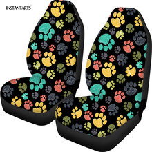 Instantarts dog paw print car seat covers 2pcs kawaii front