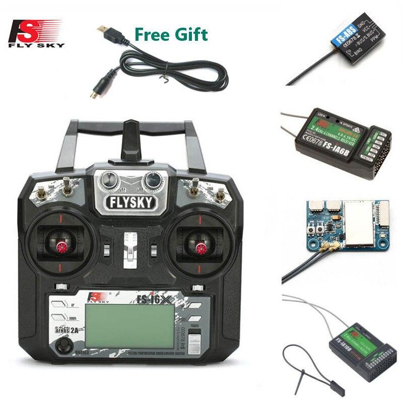 FLYSKY FS-i6X FS i6X 10CH 2.4GHz AFHDS 2A RC เครื่องส่งสัญญาณ X6B iA6B A8S iA10B iA6 สำหรับ RC FPV Racing Drone Retailbox
