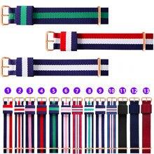 14mm 16mm 18mm 20mm banda de relógio de esportes do exército da otan acessórios de tecido de náilon cinto fivela bandas 007, james bond. Pulseira de relógio preto