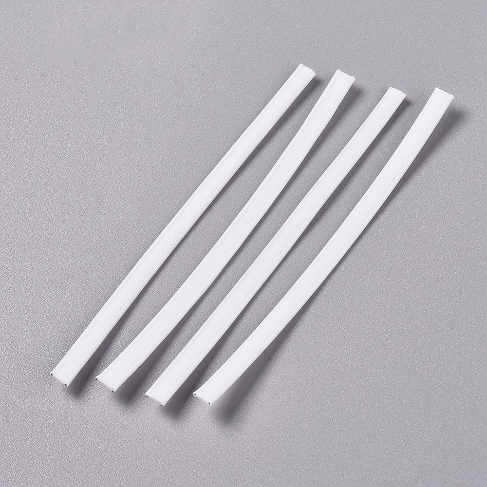 1000Pcs PE Plastic Nose Wire DIY Disposable Mask Jewelry Making Accessories With Galvanized Iron Wire Double Core Inside 100x5mm