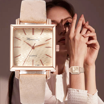 Luxury Style Fashion Brand Women Watches Leather Band Gifts Quartz Analog Watch Ladies Dress Wrist Watch Montre Femme 2020 melissa shining crystals dress watches women real leather dress wrist watch personalized moon dial relogio quartz montre femme