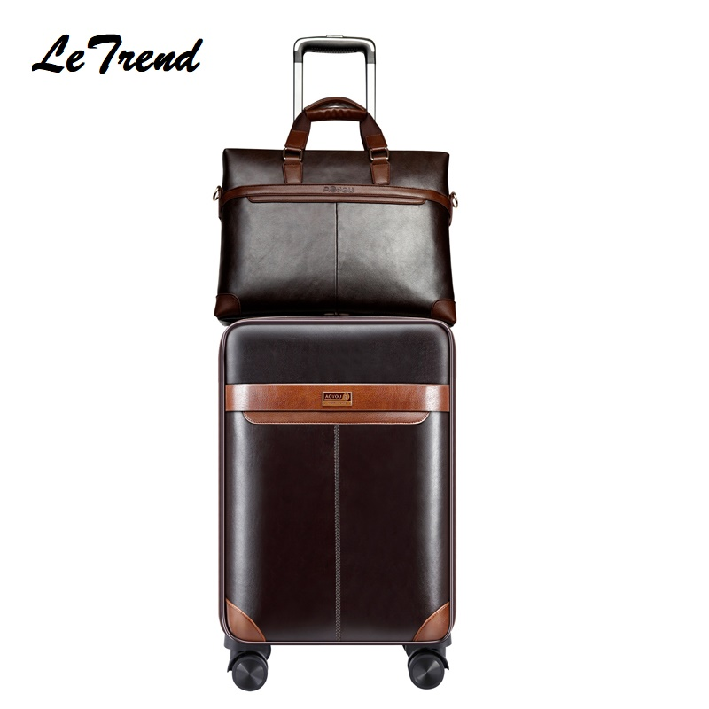 New Suitcase Man Luggage Set Business Trolley Bag Rolling Travel Luggage Carry On Luggage Capacity Boarding Suitcase