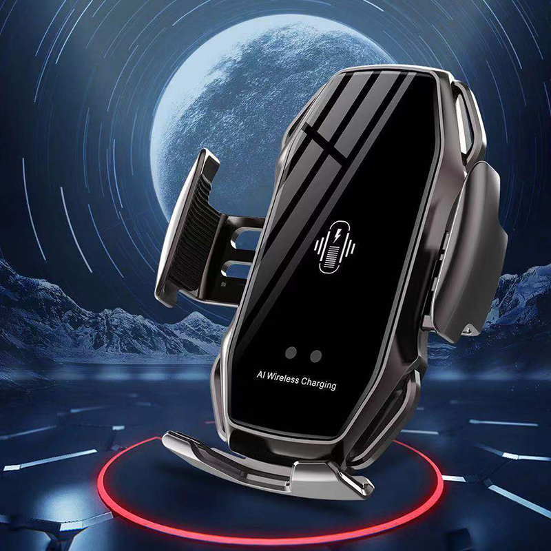 Car Phone Holder Wireless Chargers Universal Smart Phone Car Holder For IPhone 11 Luxury Wireless Charging Fast Charging Holder