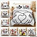Disney Mickey Minnie maus Cartoon Bettwäsche Set Schöne Paar Twin Voll König Einzel Doppel Größe Kinder Bettbezug Kissenbezug