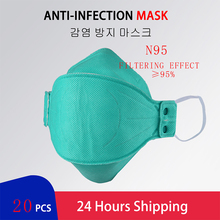 5Pcs Protective Respirator Mask N95 Respirator Prevent Bacteria Thick non-Woven Fabric Face Shield Cover CE FFP3 Dust Mask