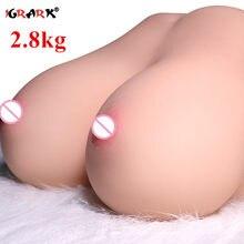 Realistyczne duże cycki seks lalka miękkie piersi prawdziwe pochwy Anal zabawki erotyczne dla mężczyzn Dildo Penis mężczyzna Masturbator Gay para materiały dla dorosłych