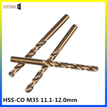 11.1 11.2, 11.3, 11.4, 11.5, 11.6, 11.7,11.8,11.9,12mm HSS-CO M35 Bit drill bits straight cobalt steel shank for stainless steel фото